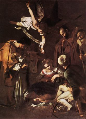 Caravaggio Painting of the Nativity